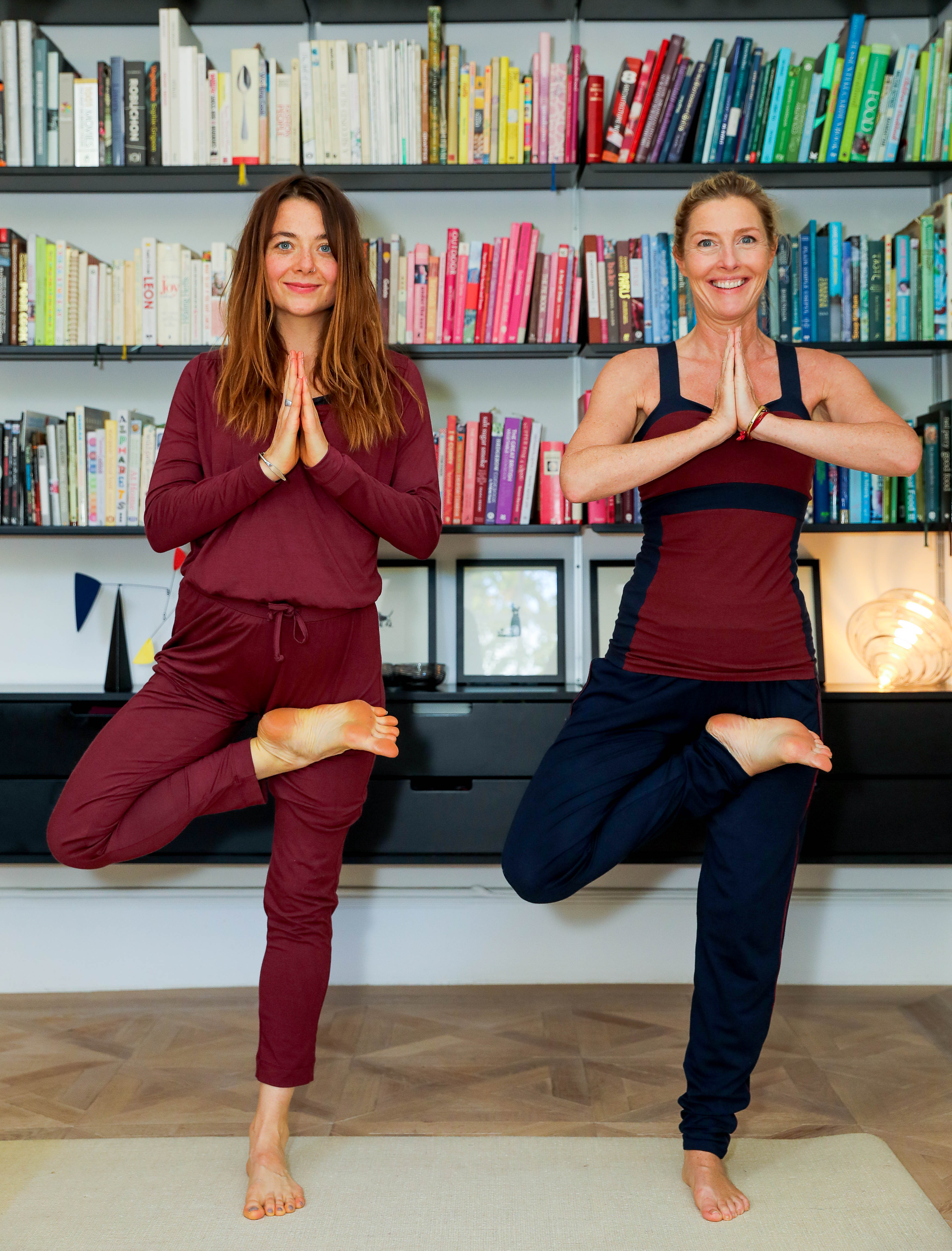 Sophie Conran and her Yoga Teacher wear Asquith organic activewear.